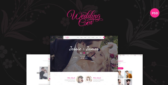 Themenum – Creative PSD Template for Wedding, Events, Wedding Planner and Couple - Entertainment Photoshop