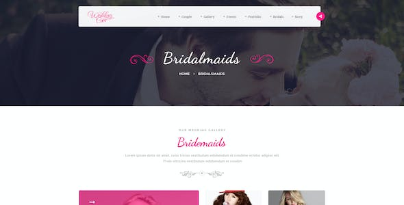 Themenum – Creative PSD Template for Wedding, Events, Wedding Planner and Couple