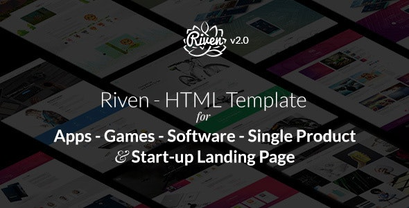 Riven - HTML Template for for App, Game, Single Product Landing Page - Software Technology