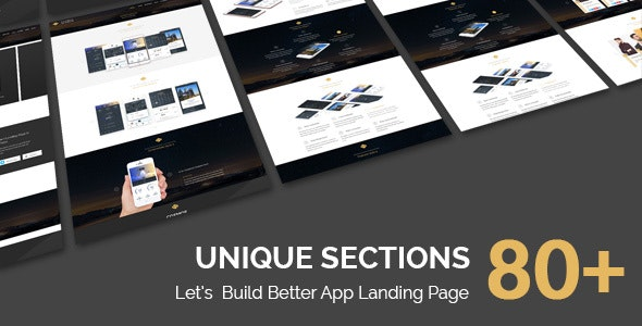 COSMOS - App Landing Pages PSD Template - Marketing Corporate