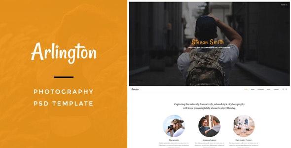 Arlington : Photography PSD Template - Business Corporate