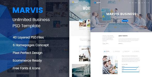 Marvis - Business Multipurpose PSD Template - Business Corporate