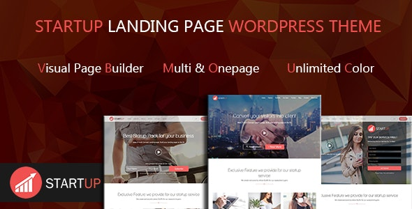 Startups Multi Concept Landing Page WordPress Theme - Marketing Corporate