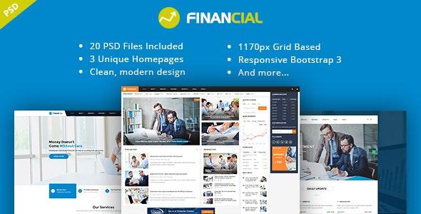 Financial III - Multipurpose Business PSD Template - Business Corporate