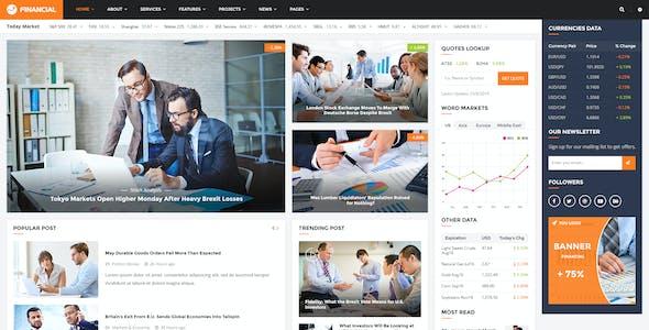 Financial III - Multipurpose Business PSD Template