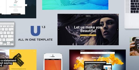 Unity - HTML Responsive Multi-Purpose Template - Corporate Site Templates