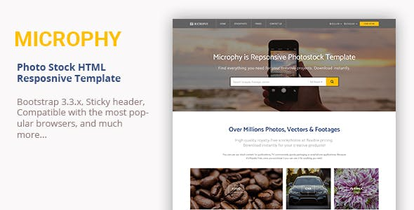Microphy - HTML Responsive Template for Stock Photo