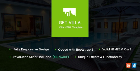 GetVilla - Single and Client Based Villa Booking HTML Template - Business Corporate