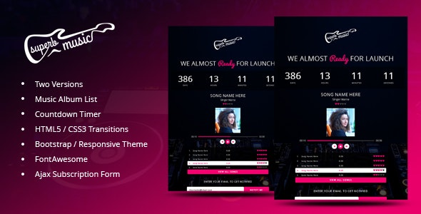 Superb Music - Coming Soon Responsive Template by xpertpoin8