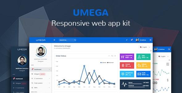 Umega - Responsive Web App Kit - Admin Templates Site Templates