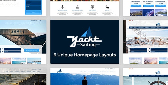 Yacht Sailing -  Marine Charter Booking - Selling template - Business Corporate