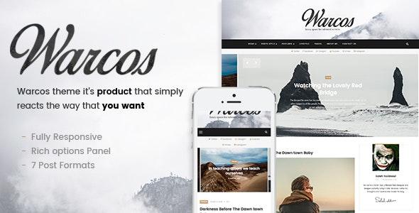 Warcos - A Responsive WordPress Blog Theme - Personal Blog / Magazine