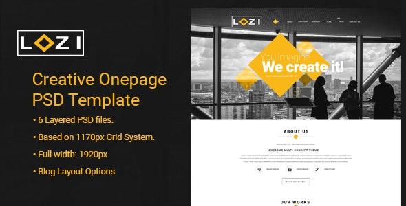LOZI - Creative Onepage PSD Template - Corporate PSD Templates