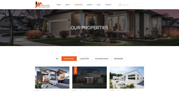 Hexo Properties - Real Estate Template