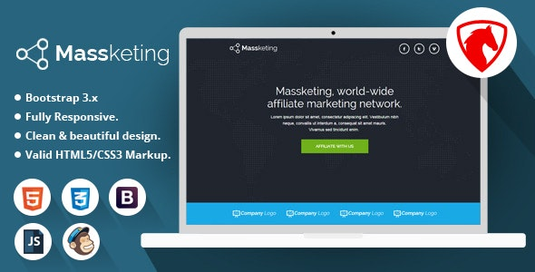 Massketing - HTML Landing Page Template - Marketing Corporate