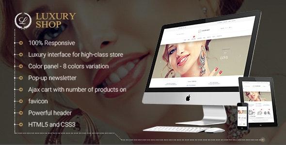 Magento Responsive Luxury Theme - Magento eCommerce