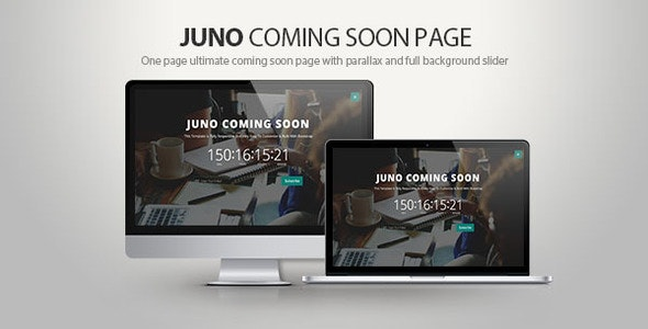 Juno Coming soon page - Experimental Creative