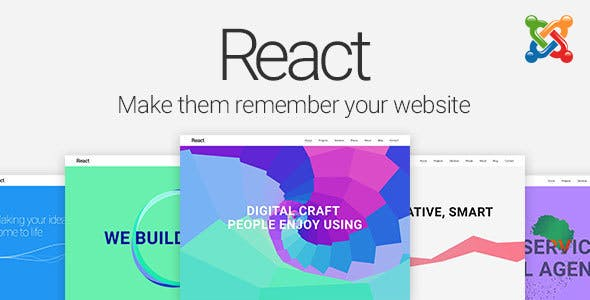 React Material Design Joomla Template Creative