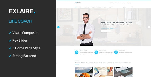 Exclaire – Personal Development Coach WordPress Theme - Health & Beauty Retail