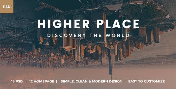 Higher Place - Travel Minimalist Blog PSD Template - PSD Templates