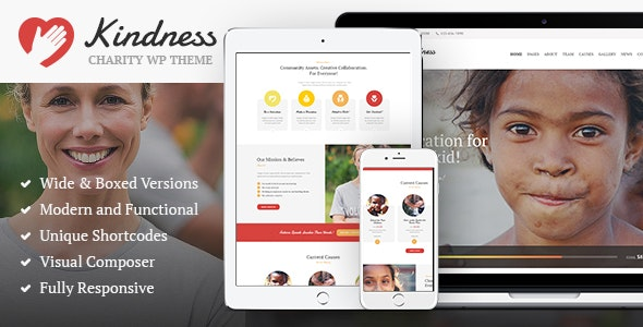 Kindness | Non-Profit, Charity & Donation Organizations WordPress Theme - Charity Nonprofit
