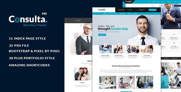 Consulta - Multi-Purpose Business & Financial PSD Template  - Corporate Photoshop