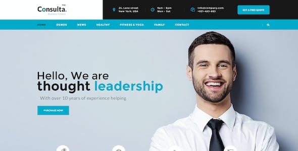 Consulta - Multi-Purpose Business & Financial PSD Template