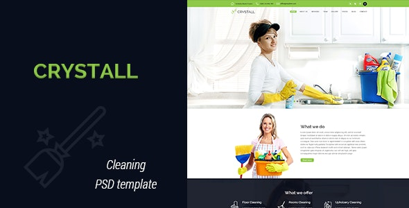 Crystall - Cleaning Service PSD Template - Business Corporate