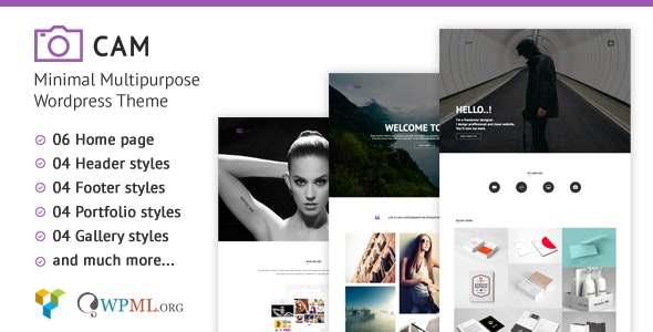 CAM | Minimal MultiPurpose WordPress Theme - Photography Creative