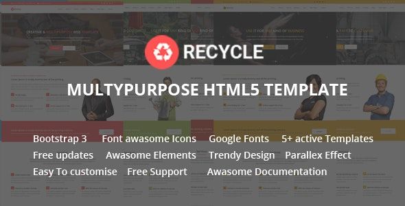 Recycle - Responsive Multipurpose HTML5 Template   - Business Corporate