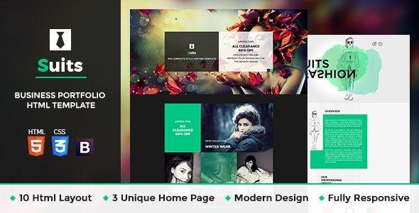Suits - Fashion HTML Template - Business Corporate