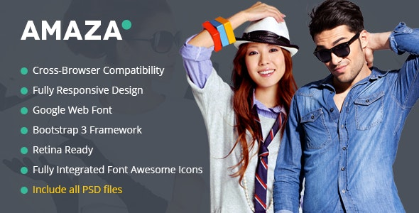Amaza - Fashion Store HTML Template - Shopping Retail