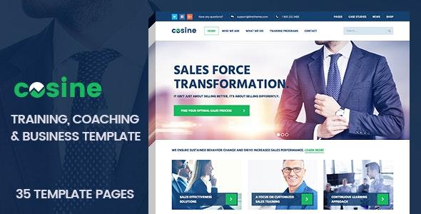 Cosine - Training, Coaching & Business HTML Template - Business Corporate