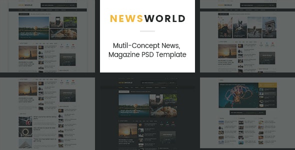 News World | Magazine PSD Template - Corporate PSD Templates