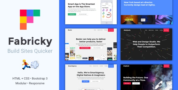 Fabricky - Landing Page Bootstrap Templates - Corporate Site Templates