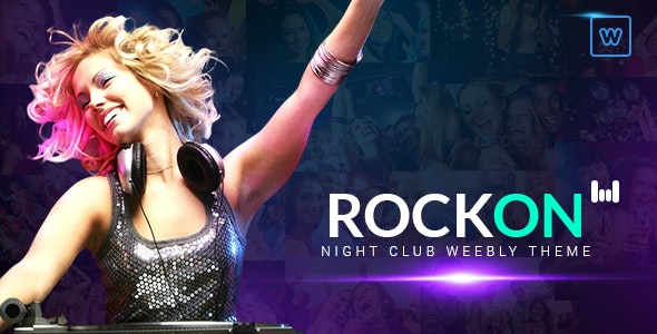 Rockon - Night Club Weebly Theme - Weebly CMS Themes