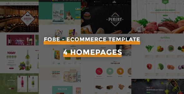Fobe – Multipurpose eCommerce HTML Template - Shopping Retail