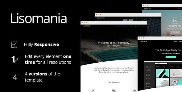 Lisomania - Responsive Muse Template - Creative Muse Templates