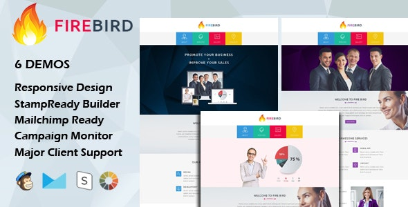 FIRE BIRD - Multipurpose Responsive Email Template - Email Templates Marketing