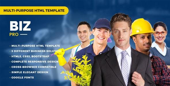 BizPro – Multipurpose HTML Template for any Company - Business Corporate