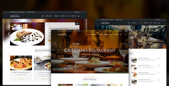 Cristiano | Restaurant WordPress Theme - Restaurants & Cafes Entertainment