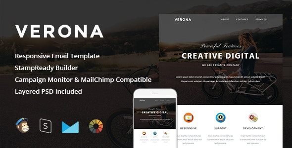 Verona - Responsive Email + StampReady Builder - Newsletters Email Templates