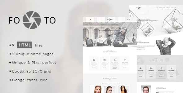 Footo Photography HTML Template - Photography Creative