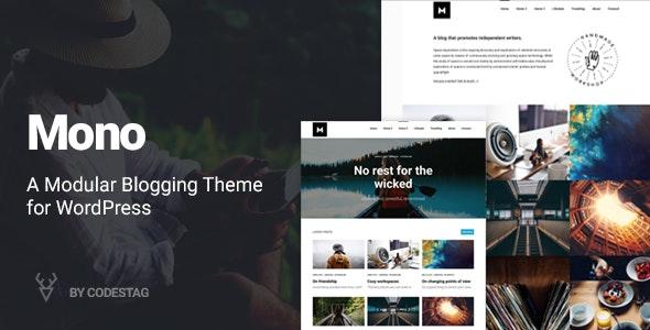 Mono - A Modular Blogging Theme for WordPress - Blog / Magazine WordPress
