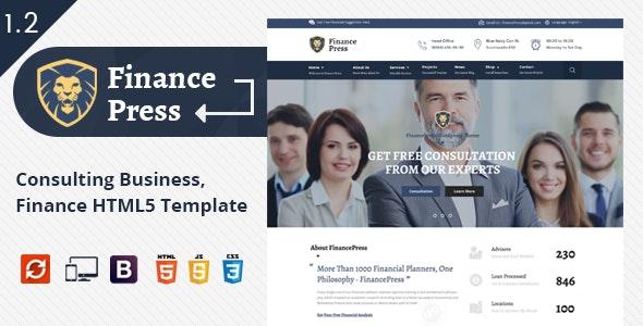Finance Press - Business HTML5 Template - Business Corporate