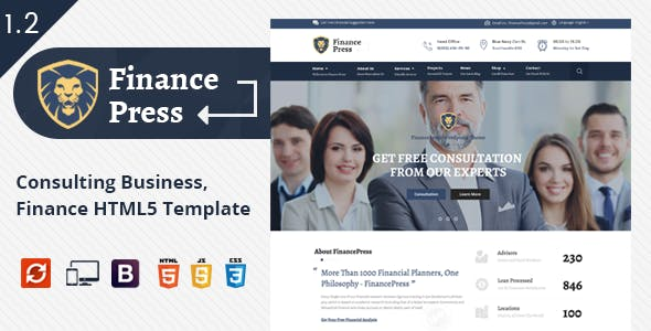 Finance Press - Business HTML5 Template