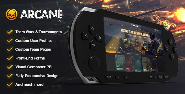 Arcane - The Gaming Community Theme - WordPress