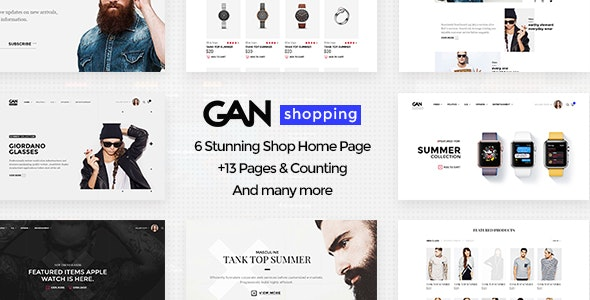 GAN - Ultimate Shopping eCommerce PSD Template - Shopping Retail
