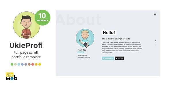 Sans Creative Html Online Cv Resume Template
