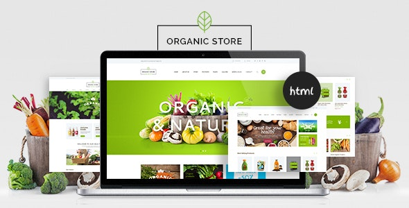 Organic Food & Eco Products Site Template - Food Retail